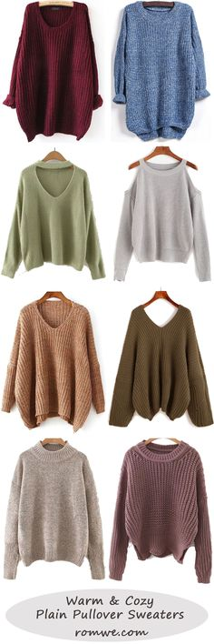 Fall Style: Plain pullover sweaters Mobile Site