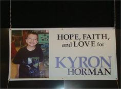 Kyron Horman -Still Missing. Met his Dad yesterday!! WOW What a man of strength! We will continue to pray for resolve. Lets bring Kyron home to his family.