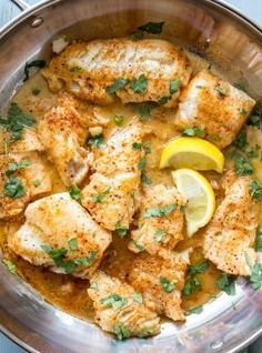 Recipe Buttered Cod in a Skillet is a simple cod recipe cooking in a garlic, paprika, and butter. Topped with lemon and served warm!