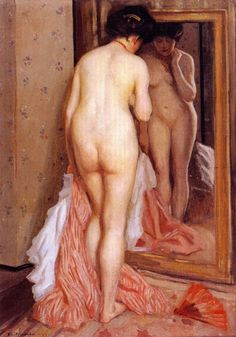 Before the Mirror (also known as Nude) Frederick C. Frieseke