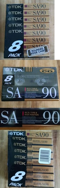Audio Tapes: Tdk 8 Pack Sa90 Iecii Type Ii Super High Resolution Avilyn Cassettes Audio Tapes -> BUY IT NOW ONLY: $47.45 on eBay!