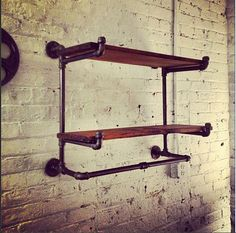 The Ridgewood Double Hanging Shelf No assembly by MonroeTrades, $299.00
