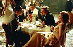 Still of Leonardo DiCaprio, Jude Law, Cate Blanchett and Adam Scott in The Aviator (2004)