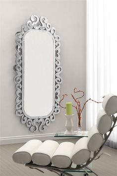 Shiva Mirror with Clear Frame