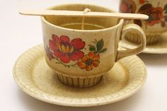 DIY – Recycled teacup candles