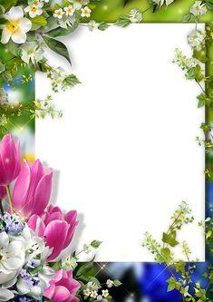 Frame for Photoshop - Spring in My Soul Frame Border Design, Boarder Designs, Page Borders Design, Photo Frame Design, Rose Frame, Flower Frame, Frame Background, Paper Background, Boarders And Frames