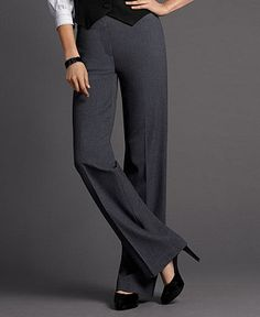 Stretch Wide Leg Pants