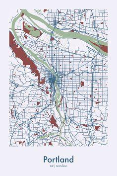 Portland, USA Map Print