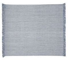 Chevron Recycled Yarn Indoor/Outdoor Rug - Blue #potterybarn  size 2'x3' for inside front, side & back doors