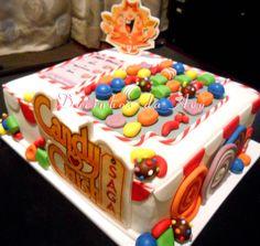 Docinhos da Avó - Cake and Party Design: Bolo Candy Crush Saga Candy Crush Saga, Candy Crush Cakes, Crushes, Desserts, Food, Design, Birthday Cakes, Cook, Dessert