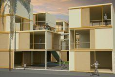 Habitação Social para Favela da Linha, Base 3 Arquitetos