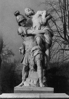 Pierre le Pautre, Aeneas draagt Anchises uit Troje - Tuileriën, Parijs