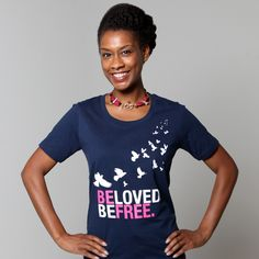 This 'Beloved Tee' is 100% fair trade, organic cotton + was made by the women of Freeset in Kolkata, India. Freeset is a fair trade business offering employment to women trapped in Kolkata's sex trade. You can purchase this + other empowering fashion at Stop Traffick Fashion >> https://www.facebook.com/photo.php?fbid=651396611551369=a.248692471821787.73856.152992901391745=1