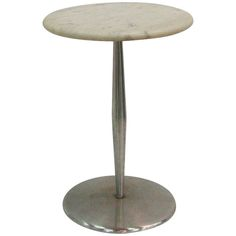 Rare Laverne Originals Marble Side Table | From a unique collection of antique and modern side tables at http://www.1stdibs.com/furniture/tables/side-tables/