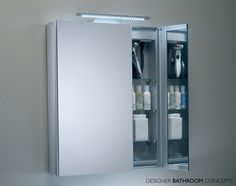 Roper Rhodes Refine Slimline Double Mirrored Bathroom Cabinet At John Lewis Partners