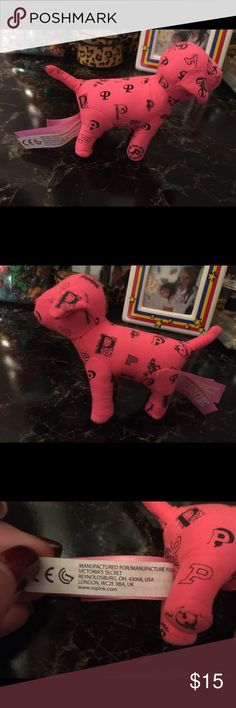 Victoria's Secret PINK dog New condition. Mini sized. 100% authentic. Size comparison shown next to my Amazon fire 8 HD tablet. Price is firm! Bundle to save! PINK Victoria's Secret Other