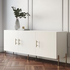 Sideboard Decor, White Sideboard, Custom Furniture, Furniture Design, Room Interior, Interior Design, Ikea Design, Ikea Living Room, Decoration Bedroom
