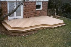 Ground Level Deck Plans Low Level Deck Decking Timber Decking The ...
