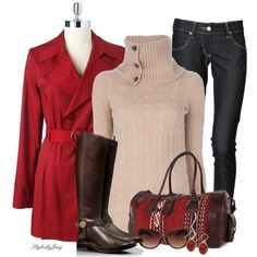 """""""Red n Nude"""" by stylesbyjoey on Polyvore"""