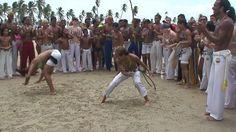 Roda de Capoeira na Praia - Boa Vontade / RN - Mestre Canelão.