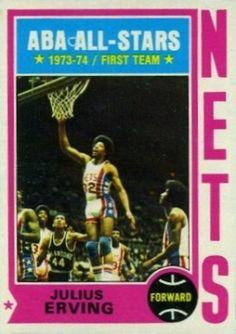 julius erving basketball cards | 1974 Topps Julius Erving #200 Basketball Card