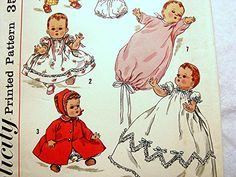 1950s Baby Doll Clothes Pattern Simplicity by PatternsFromThePast