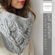Stay warm this Winter by making your own cable-crochet cowl from Lakeside Loops! With sizes for the whole family everyone will admire you and your