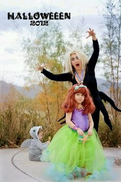 DIY little mermaid costumes I will be this mom! ha love it
