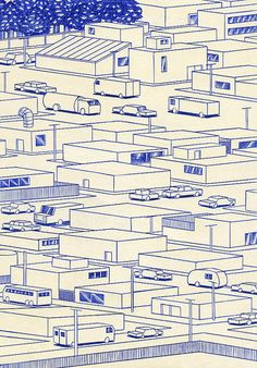 Streets | 21 x 29,7cm, ink on paper, Kevin Lucbert, 2014. | Kevin Lucbert | Flickr