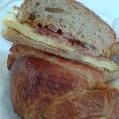 Splash Cafe, Pismo Beach, CA:Bacon, Egg and Cheese Croissant