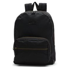 Disparate Nylon Backpack (3.495 RUB) ❤ liked on Polyvore featuring bags, backpacks, black, black bag, black rucksack, nylon backpack, black floral backpack et nylon bag