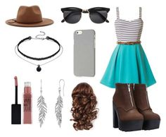 """""""Sin título #443"""" by pamela-m-z ❤ liked on Polyvore featuring H&M, Klix, Forever 21 and Maybelline"""