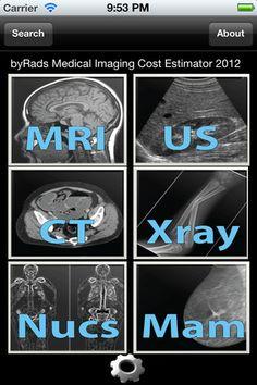 Medical Imaging Cost Estimator app - most applicable for radiologists & trainees #medspps