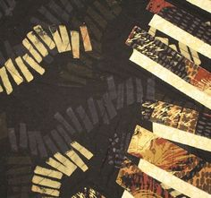 Reverberations (detail), by Carol Larson, textile artist