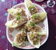 Witlof blaadjes met tonijn salade
