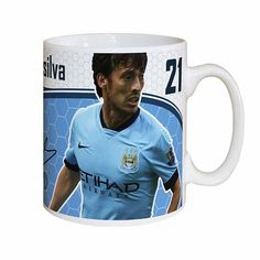 Treat a Man City with this fabulous Silva personalised message mug. Approved and fully licensed by Man City FC. A unique gift displaying Silvas