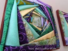 Diy Iris Folded Fabric Wall Art Panels - Tutorial & printable Template