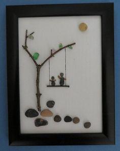 Swinging Pebble Art Canvas by ShoreThingsNE on Etsy