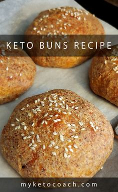 I am loving this super simple recipe to make keto buns. I use them for making keto burgers and sandwiches. I am loving this super simple recipe to make keto buns. I use them for making keto burgers and sandwiches. Best Keto Bread, Low Carb Bread, Low Carb Keto, Diabetic Bread, Low Carb Bun, Ketogenic Recipes, Low Carb Recipes, Ketogenic Diet, Pain Keto