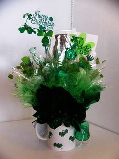 How to Make A St. Patricks Day Candy Bouquet