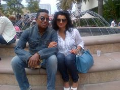 Jermaine Jackson with his wife Halima Rashid. (July 4, 2012)