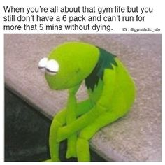 When You're All About That Gym Life But still don't have a 6 pack and can't run for more that 5 mins without dying. More motivation: