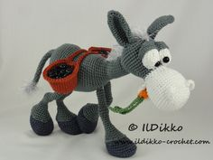 Dusty the Donkey amigurumi crochet pattern by IlDikko