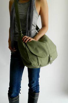 SALE  30%  Smoke Green Messenger bagWomen diaper bag Travel