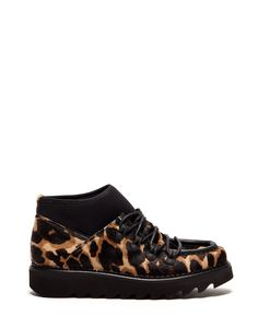 SHARK BOOT DESERT BOOTS IN SPOTTED PONYSKIN - Shoes Woman - Alberto Guardiani