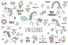 Drawing Doodles Ideas Doodle Unicorn, lettering, patch by Barkova Nadya on Pencil Illustration, Graphic Illustration, Hand Drawn Lettering, Lettering Design, Doodle Lettering, Doodle Art Journals, Doodle Drawings, Pencil Drawings, Creative Sketches