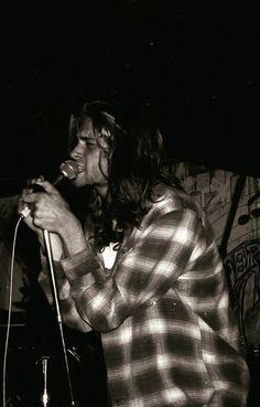 Kurt Cobain at Green Street Station, Jamaica Plain, MA, US. July 15, 1989