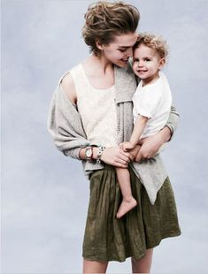 mom Arizona Muse and Two-Year-Old Son Nikko Model for J.Crew's May 2011 Catalogue