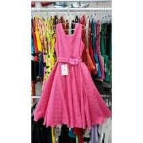 Vestido Festa Rodado Infantil Menina Pink Tamanho 14