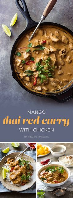 Mango Thai Red Curry with Chicken